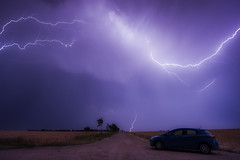 Tesla (Rainer Schund) Tags: storm nature car germany nikon erfurt natur gewitter thunder regen tesla stormchasing gewitterzelle biltz nikond700 natureexploring