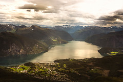 View from Stranda (Manadh) Tags: norway westernnorway landscape view geiranger fjord mountain pentax k3 sigma 1835mm manadh clouds