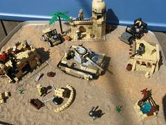 Desert City Ambush (my entry) (Militarymocs) Tags: world africa sand war tank desert lego military creation ii moc brickarms brickmania wwiibrickmaniacontestentry