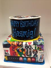 Retro 80's cake (3458) (Asweetdesign) Tags: cakes birthday theme 80s photocollagethemecake imagesofthe80s