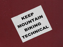 Keep all biking technical