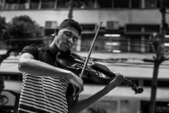 _CRC8424 (Caio Rodrigues de Camargo) Tags: street brazil blackandwhite bw music streetart art composition photography concert streetphotography melody violin cello string trio msica niteri blackwithe