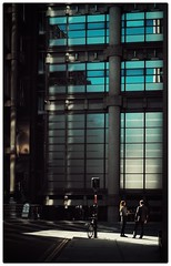 Office workers (sk31k) Tags: city light london architecture 35mm workers fuji lloyds offices lightshaft xe2