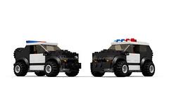 LEGO Police 4x4 (renarszagars) Tags: car lego 4x4 police instructions suv moc legomoc