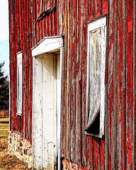 old barn window (LotusMoon Photography) Tags: door old windows red abstract texture window barn outdoor textures weathered hww