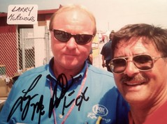 Larry McRenolds, Fox Reportor, Pictures With NASCAR people (Picture Proof Autographs) Tags: auto classic ford cup sports sign sport truck real photo model automobile image picture images montecarlo collection grandprix vehicles autograph photographs chevy photograph collections nascar fred vehicle intrepid dodge driver series proof session pontiac autoracing autos collectible collectors craftsman sprint taurus thunderbird signing nationwide charger automobiles collectibles authentic sessions collector drivers busch frederick signed autographed genuine lumina winstoncup autographes inperson campingworld photoproof authenticated xfinity sigatures sigature weichmann pictureproof fredweichmannfrederickweichmann