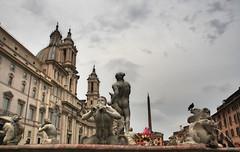 espectculo barroco  EXPLORE (RalRuiz) Tags: rome roma italia fuente iglesia cielo nubes piazzanavona bernini lazio borromini campomarzio