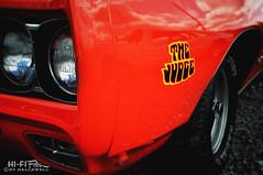 Judging You (Hi-Fi Fotos) Tags: orange detail 1969 vintage nikon classiccar american badge judge headlight pontiac gto decal orbit musclecar ramair bigblock d5000 cmwdorange hallewell hififotos
