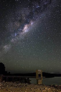 Milky Way above the spillway tower at Serpentine Dam, Western Australia