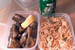 Day 131 of my 365 (Lloyd C Nicholls) Tags: food hot pepper singapore rice sony spice chinese meal noodles spicy takeaway fullframe alpha dslr spareribs 7up vermicelli a850