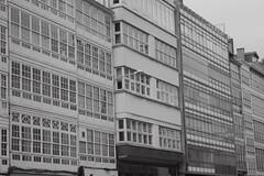 A Coruña (CROMEO) Tags: street windows españa white black building blanco ventana photography photo spain arquitectura coruña europa y euro union negro galicia construccion norte cristaleras tipicas a calidade