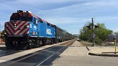 Double 21 (wildchicken_13) Tags: railroad train illinois diesel engine junction il commuter locomotive passenger metra northbrook 107 f40 f40ph 2121 techny wildchicken13