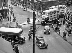 Corporation Street Birmingham Circa 1954 (geoff7918) Tags: austin birmingham morris daimler wolseley lewiss rackhams 1538 metrocammell midlandmetro dolcis dunnco upperlowerbullstreet goe538