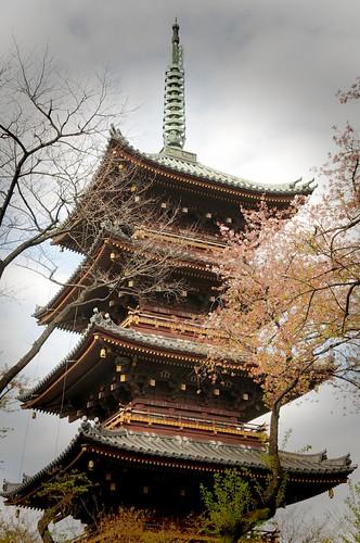 Ueno zoo aviary pagoda