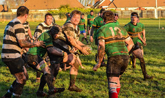 """When The Going Get Tough The Tough Get Going"".(Explored) (williamrandle) Tags: winter sunshine sport nikon action outdoor rugby ballgame tough tackle teamsports rugbyunion d7100 nikon80400mmafsf4556gedvr"
