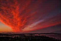 Sunset Drama (Blueshound250) Tags: blue sunset sky copyright orange landscape landscapes skies sidney allrightsreserved 2016