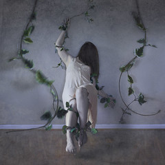 wrapped in embrace. (Stellie Chavez) Tags: selfportrait nature vines bedroom naturallight fineartphotography bedroomwall surrealphotography conceptualphotography conceptphotography elliechavezphotography elliechavez