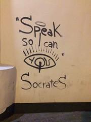 (falkmo) Tags: street urban paris art wall graffiti lyrics mural kunst philosophy socrates