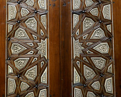 Door with star pattern - Cairo Egypt, 1380-1420 (Monceau) Tags: door wood star design pattern egypt ivory islamic intricate musedulouvre 15thcentury 136366 70architecturalfeature 116picturesin2016