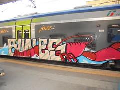 802 (en-ri) Tags: train writing torino rouge graffiti rosso europea bunes langosta langouste elephas aragosta languste palinurus gewhnliche