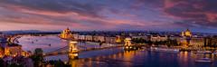 Budapest (Max Ozerov) Tags: city sunset panorama hungary cityscape budapest cityline
