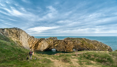 Rock painting (mendhak) Tags: england outcrop rock landscape coast hiking cove painter jurassic easel lulworth geolocation geocity a6300 exif:make=sony geocountry camera:make=sony geostate exif:aperture=56 sel1018 exif:lens=e1018mmf4oss exif:isospeed=400 exif:focallength=10mm exif:model=ilce6300 camera:model=ilce6300 geo:lat=50618055 geo:lon=22516666666667