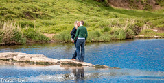 Romance (trevorhayes502) Tags: river kiss couple romance steppingstones clitheroe ribble riverribble brungerley