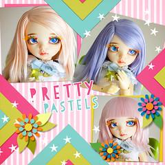Pretty Pastel wigs (Frappzilla) Tags: halloween doll event wig bjd soy abjd littlefee