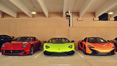 I'll Have One of Each Please (FourOneTwo Photography) Tags: auto car exotic f12 ferrarif12berlinetta supercarspersonified fouronetwophotography mclaren650sspider lamborghiniaventadorroadsterlp72050thanniversario