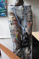 Art Begets Art (skipmoore) Tags: art artist pants sausalito acrylics winteropenstudios sueaverell