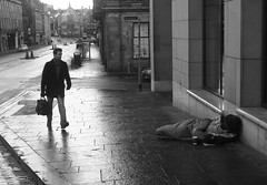 Dont just look help (RobK5) Tags: street city blackandwhite mono scotland town edinburgh homeless streetphotography helpthem