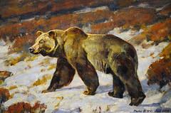The Humpback (detail), Carl Rungius (V. C. Wald) Tags: jacksonhole grandtetonnationalpark wildlifeart jacksonwyoming nationalmuseumofwildlifeart carlrungius thehumpback