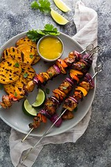 Chili Lime Chicken S (alaridesign) Tags: chili lime chicken skewers with mango sauce