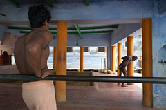 "Kusti, Varanasi (dsaravanane) Tags: saravanan dhandapani dsaravanane yesdee ""yesdeephotography"" ""yesdee"" ""saravanandhandapani"" ""streetphotography"" life ""kushtilife"" varanasi up india ganges ""varanasi2016"" ""monsoonvaranasi"" nikon d800 ""nikond800"" kusti kushti ""warmup"" ""kustiwarmup"" ""kustifield"""