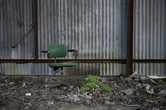 'The Green Party'.... (Taken-By-Me) Tags: takenbyme abandoned adventure building closed creepy centre chair derelict decay demolished d750 explore exploring empty eerie forgotten floor factory gone green industrial left nikon neglect north party sit sat ruin shut sheffield urbex urban ue uk vacant wall