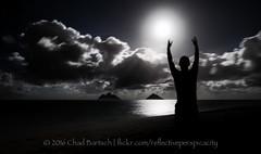 Moon Worshipper (reflective perspicacity) Tags: oahu honolulu hawaii 2016 vacation summer july2016 nikond300 night pacificocean longexposure lanikai lanikaibeach kailua east h1 h3 h2 usa unitedstates paradise
