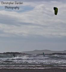 Kitesurfer and Windsurfers at Rhosneigr, Anglesey, Wales. (Bards' POV) Tags: ynysmon cymru coastal coast windsurfers windsurfing kitesurfing kitesurfer waves sea beach rhosneigr anglesey wales greatbritain gb uk