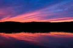 Colorful Sunset Sky Reflections (matthewkaz) Tags: limelake lake water sunset sky clouds reflection reflections silhouette puremichigan maplecity cedar michigan leelanau 2016