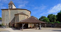 Eglise de Saint Jean de Côle (claude 22) Tags: panorama rural france aquitaine nuages clouds church chapel stjean cole périgord dordogne lesplusbeauxvillagesdefrance église perigord 24 art medieval claude22b