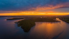 Shoalhaven Delta (Andy Hutchinson) Tags: drone shoalhavenheads sunset river australia aerial dji shoalhaven nsw newsouthwales au