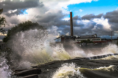 Angry Water of the Bay (Dan's Storm Photos & Photography) Tags: water waves bayofgreenbay landscape landscapes weather nature lakemichigan wind gale