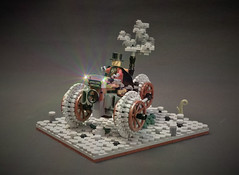 Steampunk towncruiser - The aristocrat (adde51) Tags: npu foitsop adde51 lego moc steampunk towncruiser aristocrat wheel