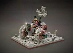 Steampunk towncruiser - The aristocrat (adde51) Tags: npu foitsop adde51 lego moc steampunk towncruiser aristocrat wheel