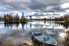 Hemsedal Norway (Thijs de Bruin) Tags: blue boat hemsedal norway nature water autumn herfst