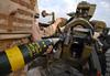 Op Telic 9 1822 (hans_bergman729) Tags: royalartillery lightgun 40regiment basra telic round ammunition bodyarmour 105mm shell ordnance loading breech interdiction iraq