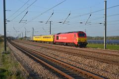 67018 Sandy (Lorenzo's Modern Traction) Tags: west yard cross sandy rail db class via kings network 67 dbs doncaster schenker ecml serco 1q19