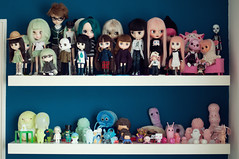 Doll & Toy Shelf 3/4 (Sai / Rebecca) Tags: pink blue green ikea japan vintage toy rainbow nikon doll nikki teal pastel tofu violet indigo mint totem plush collection kidrobot droplet bjd blythe custom fairyland dunny doppelgänger lps roygbiv momoko jamfactory giantmicrobes pongpong middie crazylabel treeson sonnyangel taeyang bubiauyeung odeco ddung d5000 monsterburp sergeysafonov danboard pukipuki onsenmanjukun junmihara mrrain takochu takoluka monsterhigh luckynamekujidoll sumikkogurashi puchibabydeer
