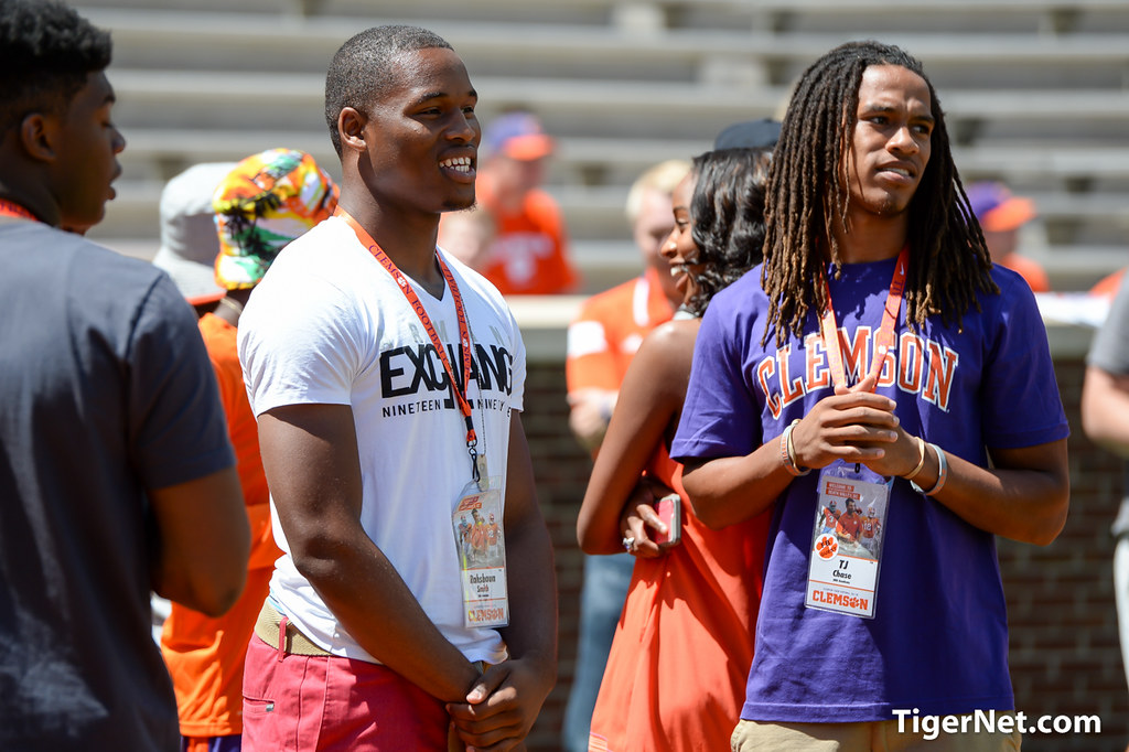 Recruits at Orange and White Game - 2015