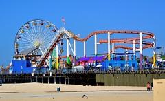 Santa Monica Pier 125mm (Joe Lach) Tags: california beach pier sand santamonica ferriswheel rides rollercoaster santamonicapier pacificpark joelach