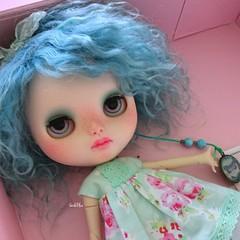 Blue 💙 💙 💙 #blythecustom #blue #bluebutterflydoll #instadoll #instapic #dollphotography #doll #blythe #blythedoll #candyminimal #pixlrcontest #verdeblue